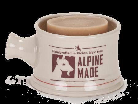 Alpine Made Men's Shave Mug Set with soap