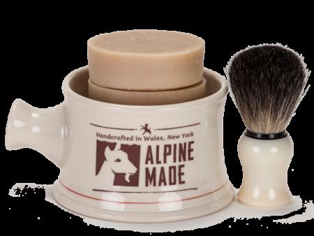 Alpine Made Men's Shave Mug Set